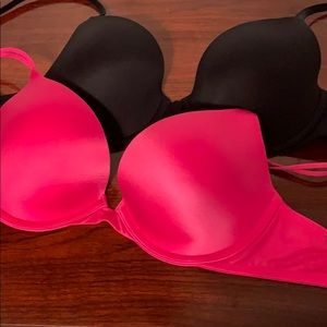 Other - Victoria Secret PINK push up and Demi bras 34C